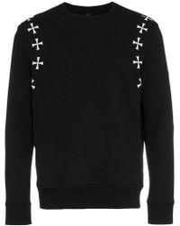 Neil Barrett - Black White Crosses Sweatshirt - Lyst