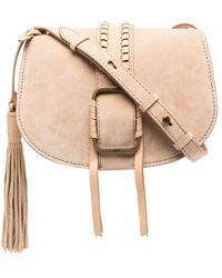 Ba&sh Teddy Tassel Crossbody Bag - Natural