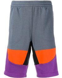 adidas Joggingshorts in Colour-Block-Optik - Mehrfarbig