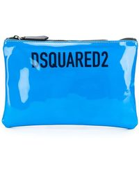 DSquared² Лакированный Клатч - Синий