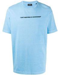 DIESEL T-just-neon Tシャツ - ブルー