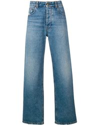 AMI Wide Fit 5 Pocket Jeans - ブルー