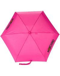Moschino Parapluie à logo - Rose