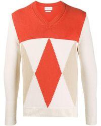 Ballantyne パターン セーター - オレンジ