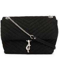 Rebecca Minkoff Bolso satchel Edie acolchado - Negro