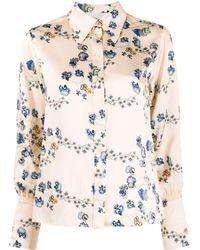 Chloé Рубашка С Цветочным Принтом - Естественный
