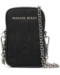Marine Serre チェーンストラップ ミニバッグ - ブラック