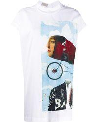 Mrz Maniche Print T-shirt - White