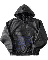 Supreme X Nike レザージャケット - ブラック
