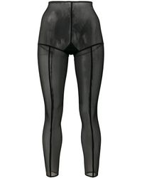Ann Demeulemeester Footless Solid Stripe Tights - Black