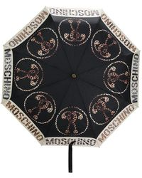 Moschino ロゴ 傘 - ブラック
