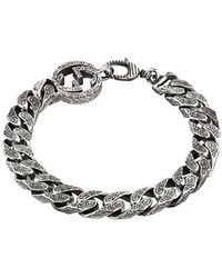 Gucci - Interlocking G Chain Bracelet In Silver - Lyst