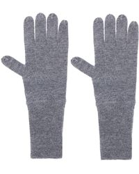 Allude Knit Gloves - Gray
