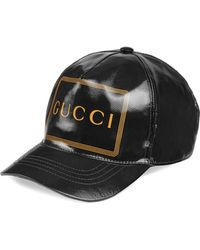 Gucci - Baseball Hat With Frame Print - Lyst
