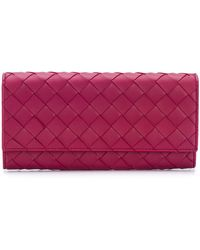 Bottega Veneta イントレチャート 財布 - パープル
