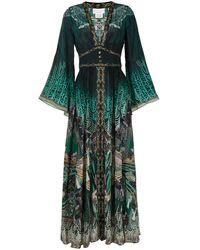 Camilla Jurk Met Kimono Mouwen - Groen