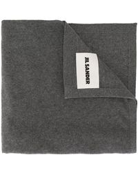 Jil Sander ロゴパッチ スカーフ - マルチカラー