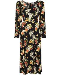 Reformation Alessi Fruit-print Midi Dress - Black