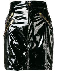 Versace Jeans - Patent Skirt - Lyst
