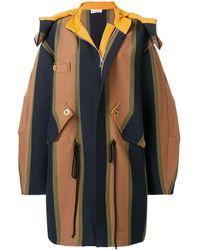 Sonia Rykiel - Striped Hooded Coat - Lyst