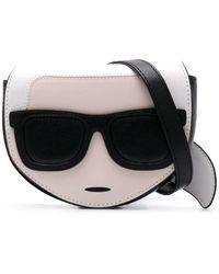 Karl Lagerfeld K/ikonik Belt Bag - Black