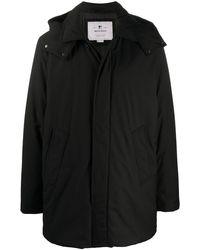 Woolrich フーデッド シングルコート - ブラック