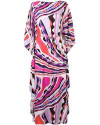 Emilio Pucci Maxi abito con stampa Burle - Multicolore