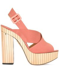 Charlotte Olympia - Electra Satin Sandals - Lyst