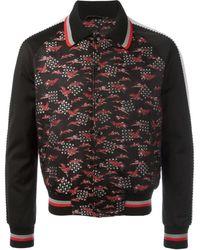 Lanvin Куртка-бомбер С Вышивкой Цапель - Черный