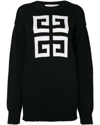 Givenchy Knitted Pattern Sweater - Black