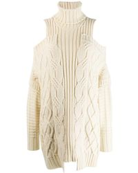 Monse - Cold-shoulder Fisherman Knit Sweater - Lyst