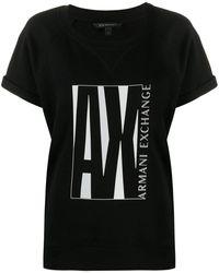 Armani Exchange Ax ロゴ Tシャツ - ブラック