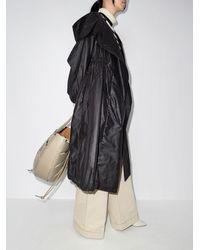 Alexandre Vauthier オーバーサイズ フーデッドコート - ブラック