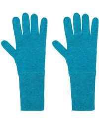 Allude Knit Gloves - Blue