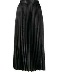 Junya Watanabe High-waisted Pleated Skirt - Черный