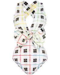 Silvia Tcherassi Annika Check Swimsuit - Multicolor