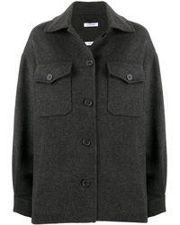 P.A.R.O.S.H. Fringed Felt Jacket - Grey