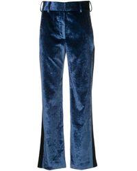 Sies Marjan サイドパッチ ブーツカット パンツ - ブルー