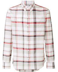 Moncler Приталенная Рубашка В Клетку - Белый