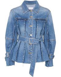 SJYP Jeansjacke mit Gürtel - Blau
