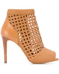 MICHAEL Michael Kors Caged Ankle Boots - Brown