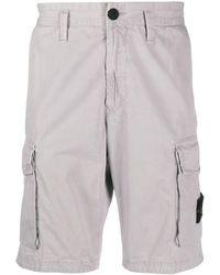 Stone Island Cargo-Shorts mit Logo - Grau