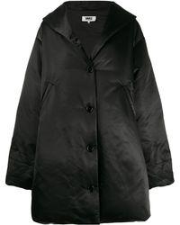 MM6 by Maison Martin Margiela オーバーサイズ パデッドコート - ブラック