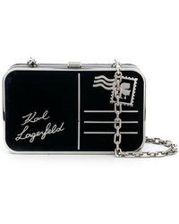 Karl Lagerfeld K/postcard ミニバッグ - ブラック