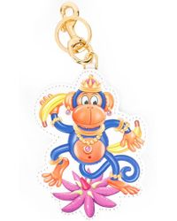 Moschino - Crowned Monkey Keyring - Lyst