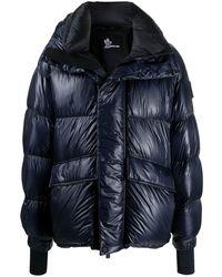3 MONCLER GRENOBLE オーバーサイズ パデッドコート - ブルー