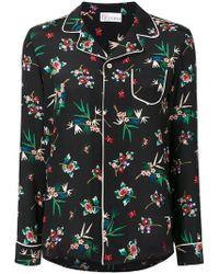 RED Valentino Wallpaper Flower Pyjama Shirt - Black