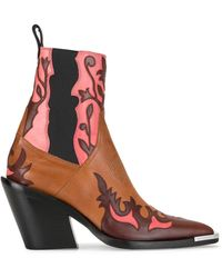 Paco Rabanne Western Ankle Boots - Multicolor