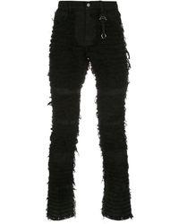 1017 ALYX 9SM Fringe Design Jeans - Black