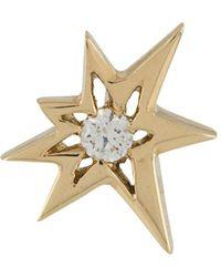LE STER Puce d'oreille Bang en or jaune 18ct orné de diamants - Métallisé